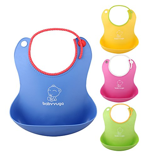 Aojia Soft Bibs with Snaps Adjustable for Your Growing Toddler, Boy or Girl, 1 Piece,BH-401 - 1