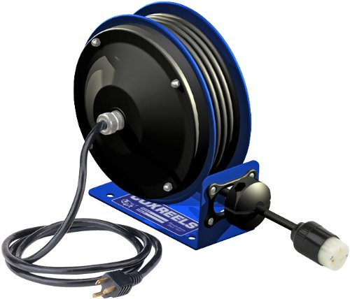 Coxreels Pc10-3012-A Compact Efficient Heavy Duty Power Cord Reel With A Single Industrial Receptacle