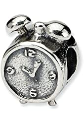 Reflections Sterling Silver Alarm Clock Bead / Charm