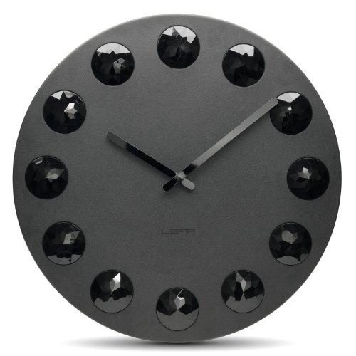 Leff Amsterdam Wanduhr Facet55 schwarz Aluminium