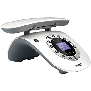 VTech VTLS6195-17 Retro-Design Phone with Rotary Keypad (White)