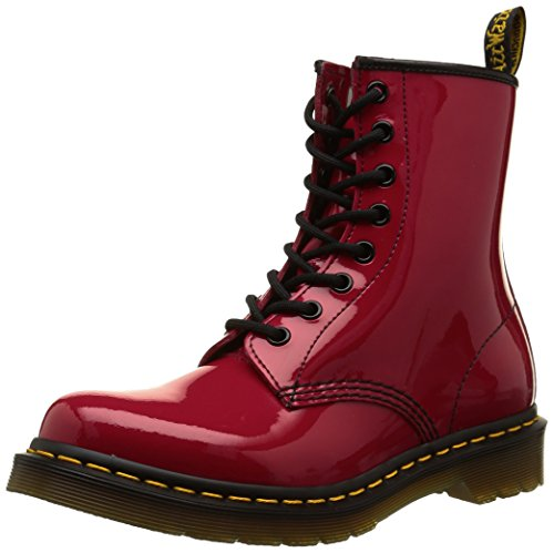 Dr. Martens 1460 Patent Stivaletti, Unisex Adulto, Rosso (Red), 38