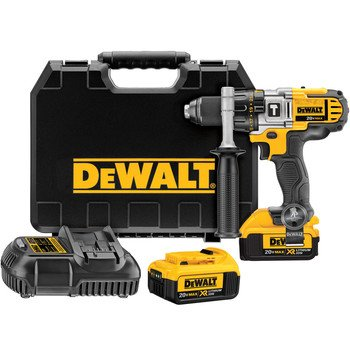 Factory-Reconditioned Dewalt Dcd985M2R 20V Max Cordless Lithium-Ion 1/2 In. Premium 3-Speed Hammer Drill Kit With 4.0 Ah Batteries