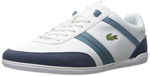Lacoste Men's Giron 316 1 Spm Fashion Sneaker, White, 9 M US