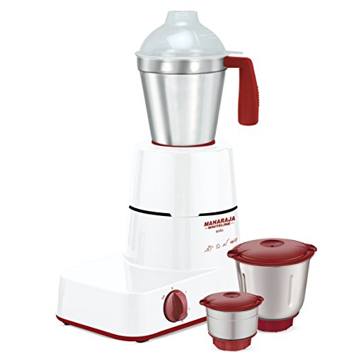 Maharaja Whiteline Solo Happiness 500-Watt Mixer Grinder (Red and White)  available at amazon for Rs.1479