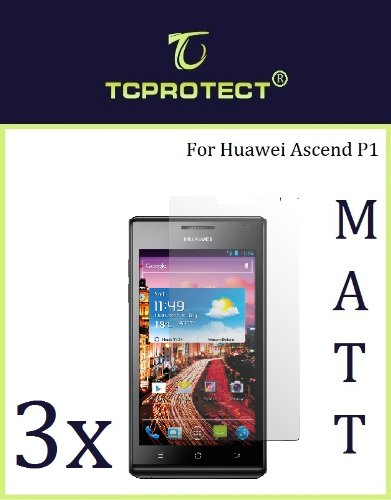 3x Huawei Ascend P1 Schutzfolie Anti Reflex Matt Huawei p1