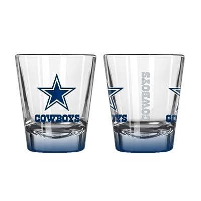 NFL Dallas Cowboys Elite Shot Glass Set (2-Pack), 2-Ounce