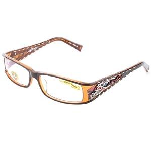 Eyeglass Frames Ed Hardy : Amazon.com: Ed Hardy EHO-723 Designer Eyeglasses - Brown ...