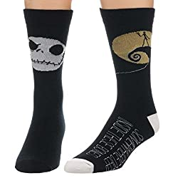 The Nightmare Before Christmas Mens' Crew Socks 2 Pair