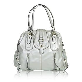 ML8024 Oversize Shoulder Handbag Purse Silver