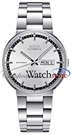 Mido M0144301103100 Watch Commander II Mens Silver Dial M014.430.11.031.00 Stainless Steel Case Automatic Movement