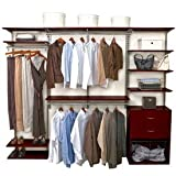FreedomRail Closet System - Chocolate Pear