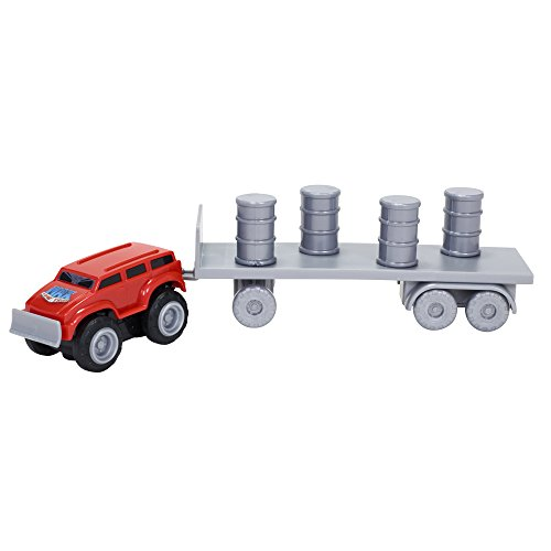 Max Tow Truck Mini Haulers Tow and Go Packs Red Push Truck with Barrel Accessories Vehicle - 1