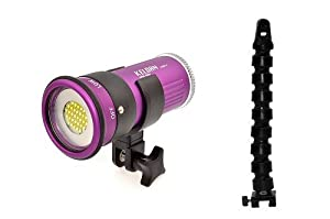 """Luna 4 V Professional Underwater LED Video Light (4000 lumens, rated 626'/200m deep) with Nocturnal Lights 12"""" Flex Arm for Gates Underwater Video Housings for Sony EX1, FX1, FX7, HC3, HC7, HC9, V1, Z1U, JVC GR-HD1, JY-HD10U, & GR-PD1, Panasonic AG-HVX200, Canon XH-A1, HX-G1, XL-1, XL-H1"""