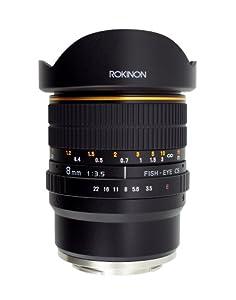 Rokinon FE8M-NEX 8mm f/3.5 Fisheye Lens for Sony E-Mount Cameras (NEX and VG10)