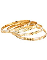 Vedika Jewellery Designer Gold And Silver Plated Alloy Bangles Set For Women(Set Of 4)(Sizes 2.10, 2.8, 2.6 And...