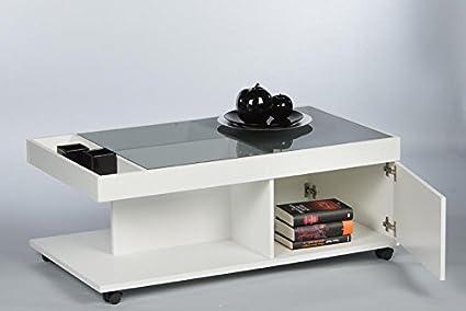 Couchtisch 16793 Wohnzimmertisch Tisch Weiß Matt / Grau