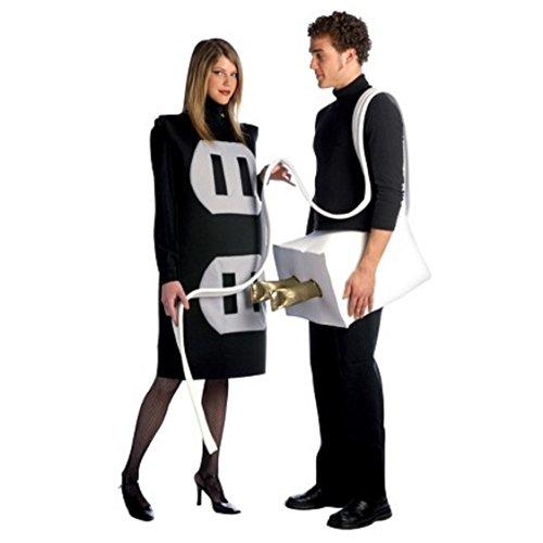[Get Real Plug and Socket Costume Silver/Black - One Size Fits Most] (Plug And Socket Costumes)