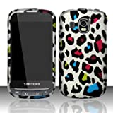 Samsung Transform Ultra M930 Accessory -Rainbow Leopard Spot Skin Design Protective Hard Case Cover for Sprint / Boost Mobile