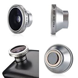 (4382-u) NEW 180 DETACHABLE FISH EYE LENS FOR IPHONE 4 TOUCH CAMERA (USA)