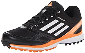 adidas Men's Adizero Sport II Golf Shoe,Black/White/Solar Blue,10.5 M US