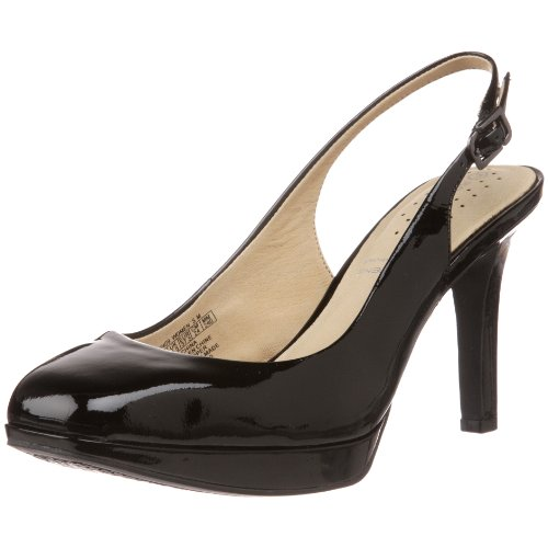 Rockport Women's Luciana Slingback Black Heel K57409 3 UK