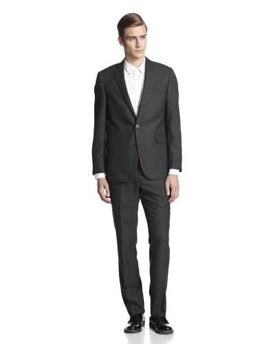 Kenneth Cole REACTION Men's Birdseye Slim Fit Suit