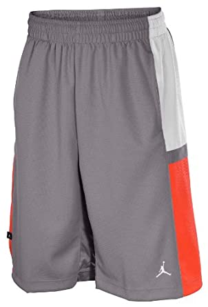 Jordan Nike Mens Jumpman Sport Cut Bankroll Basketball Shorts-Gray Bright Coral by Jordan