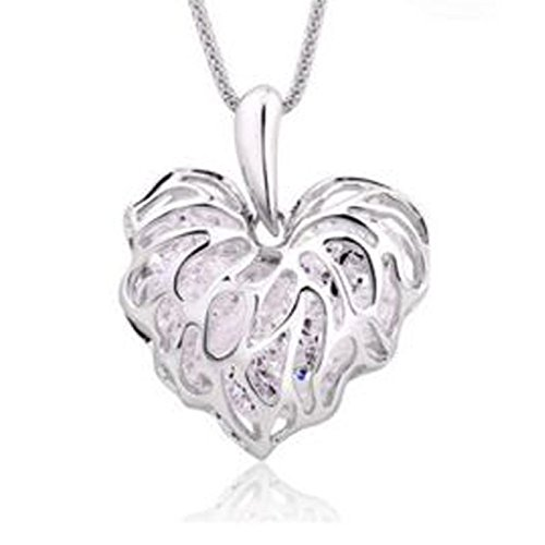 Fashion Women Gold Plated Heart Bib Statement Chain Pendant Necklace Jewelry NEW Silver. (Yellow Ss Emblems compare prices)