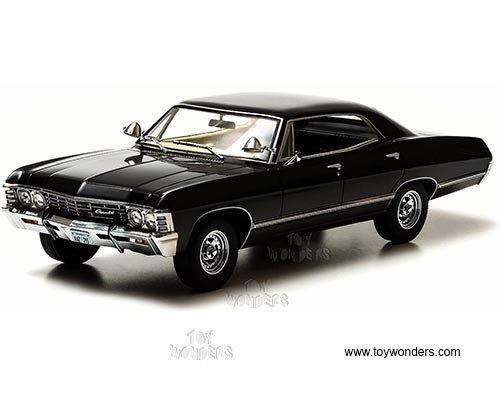 greenlight-artisan-supernatural-tv-show-chevy-impala-hard-top-1967-1-18-scale-diecast-model-car-blac
