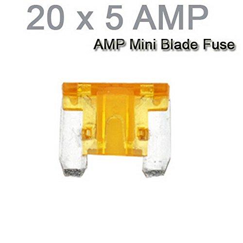 Auto-LKW-Motorrad-Auto Mini Sicherungen Flachsicherung Sortiment 20PCS X 5AMP