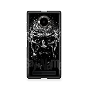 Motivatebox -Micromax Yuphoria Back Cover - Say My Name Polycarbonate 3D Hard case protective back cover. Premium Quality designer Printed 3D Matte finish hard case back cover.