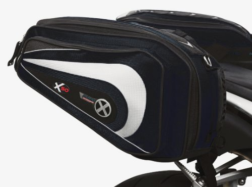 OXFORD X50 LIFETIME MOTORCYCLE LUGGAGE - PANNIERS, BLACK