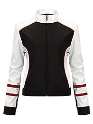Envy Boutique New Women\'s Crop Faux Leather Stripe Biker Jacket Pvc Pu Zip Coat Black 6
