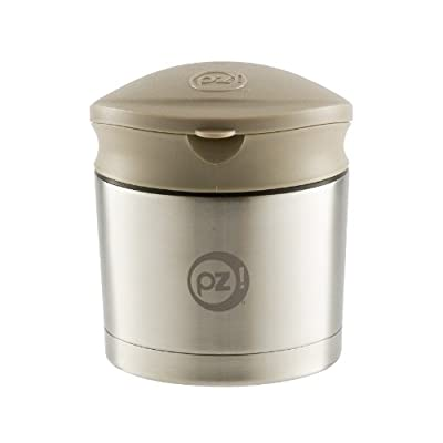 Stainless Steel Thermal Food Container with Taupe Twist Lid