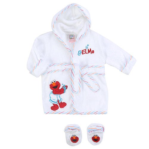 Sesame Street Elmo Robe Bootie Set front-1074319