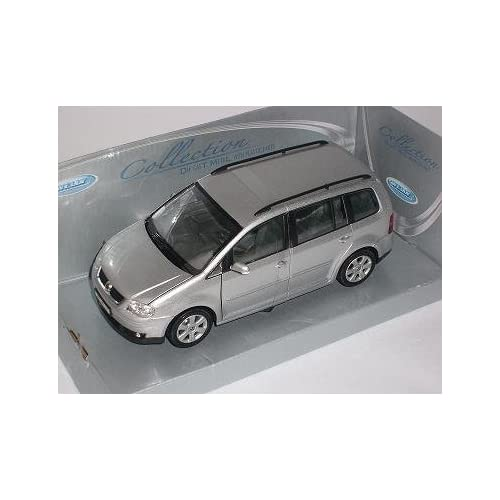 VW VOLKSWAGEN TOURAN SILBER SILVER 2005 METALLMODELL 1/24 WELLY