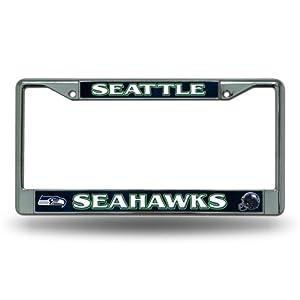 Amazon.com : Seattle Seahawks Chrome License Plate Frame