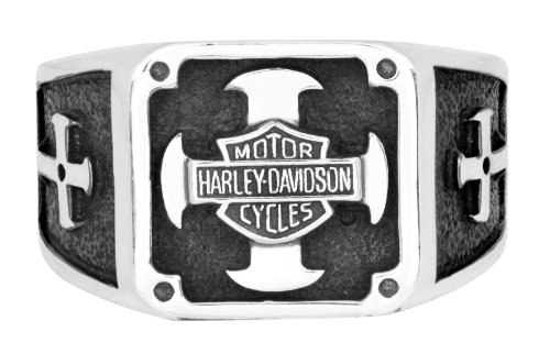Harley-Davidson Mens .925 Silver Cross Square Ring by Mod Jewelry (11)