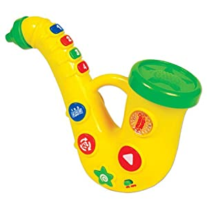 (史低)儿童萨克斯shakesSmall World Toys Preschool Movin Groovin Saxophone$16.45