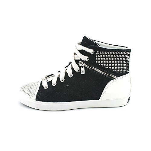 MICHAEL Michael Kors Women's Boerum Mini Studded Black Suede High Top Sneakers 8 M