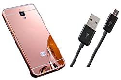 Novo Style Back Cover Case with Bumper Frame Case for Xiaomi Redmi Mi4 Rose Gold + Micro USB Data Sync Charging Cables for - 1 Feet