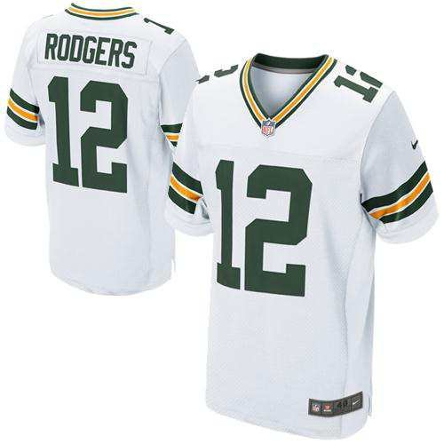 Aaron-Rodgers-Green-Bay-Packers-NFL-MENS-White-Game-Screen-Print-Jersey