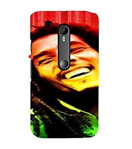 PrintVisa Bob Marley Colour Tone Design 3D Hard Polycarbonate Designer Back Case Cover for Motorola Moto G3