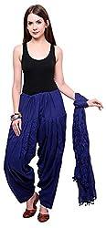 FEMEZONE Women's Cotton Patiala Salwar with Dupatta (FEM4211_Royal Blue)