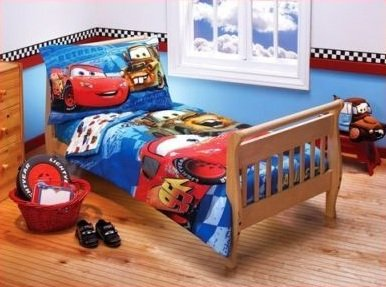 "Disney Cars ""Racing Team"" 4pc Toddler Bedding Set - 1"