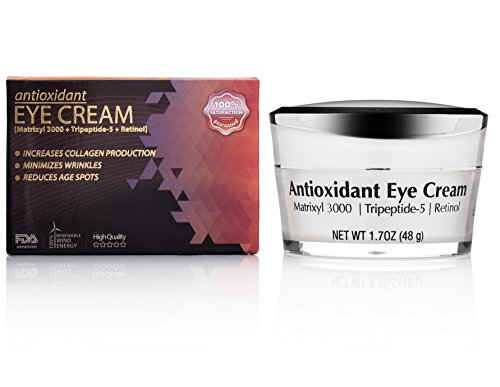 Beautifully Radiant's Antioxidant Eye Cream- For Erasing Fine Lines and Wrinkles, Smoothing Crows Feet, Brightening Black/ Dark Circles, and Reducing Puffiness. Good for Day/ Night- 1.7