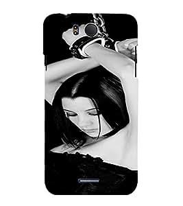 PrintVisa Bondage Kinky Girl Art 3D Hard Polycarbonate Designer Back Case Cover for Infocus M530