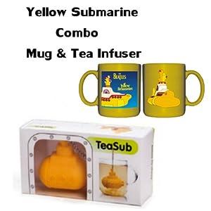 Amazon.com: Yellow Submarine Bundle - Tea Sub Infuser & Beatles Mug (YELLOW): Beatles Coffee Cup ...