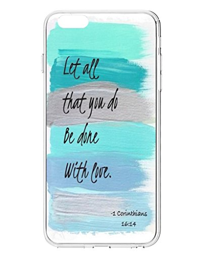4.7 Inch Phone Case, UKASE Hard Back Cover Cases for 2014 iPhone 6 (4.7 Inch) with Bible Quotes Let All That You Do Be Done with Love (Iphone 6 Case Positive compare prices)
